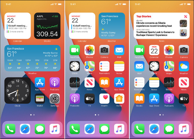 Widgets on the iOS 14 Home Screen