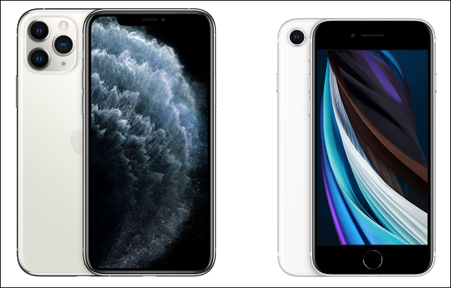 The iPhone 11 Pro and iPhone SE 2.