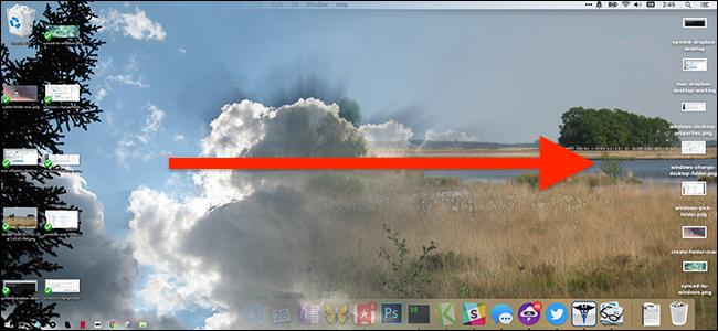 Synchronizing a Mac and Windows 10 desktop.