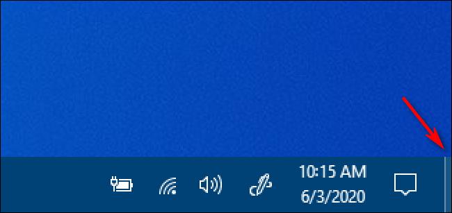 The Windows 10 Show Desktop Button