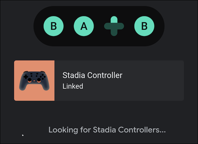 The Stadia controller is now linked to your handset