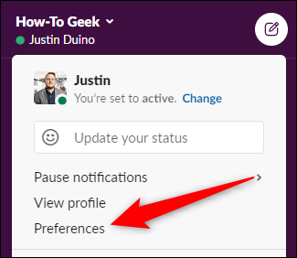 "Select the ""Preferences"" option"
