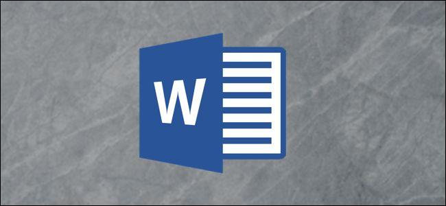 Microsoft Word logo on a gray background