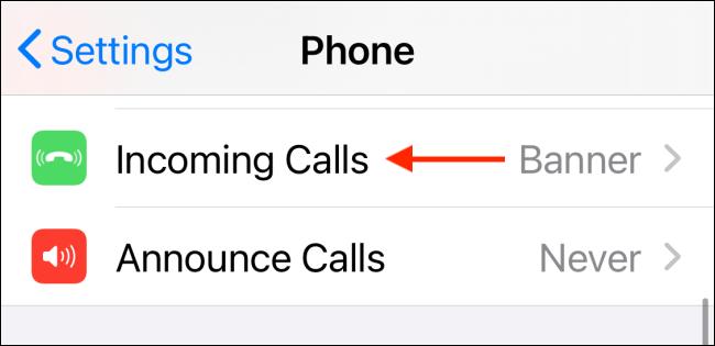Select Incoming Calls