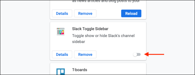 Click Toggle to Disable a Chrome Extension