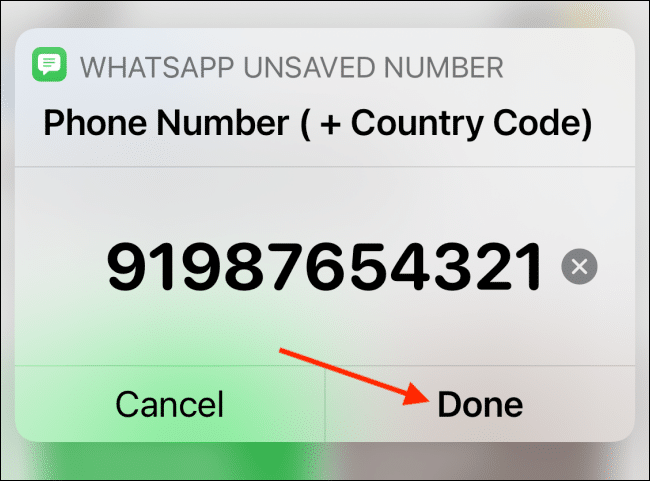 Tap Done After Adding Number