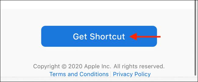 """Tap the """"Get Shortcut"""" button."""