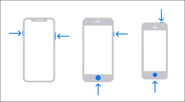 iPhone Screenshot Buttons