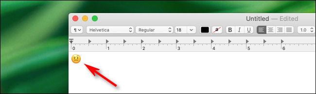 Emoji inserted into Mac app.
