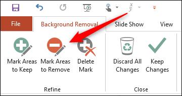 Mark areas to remove