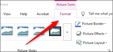 Picture format tab