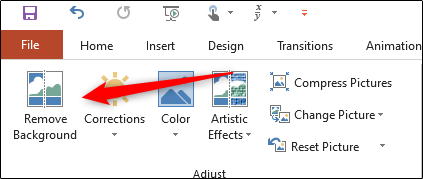 Remove Background option in adjust group