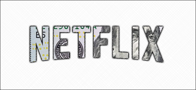The Netflix logo embedded in a $100 bill.