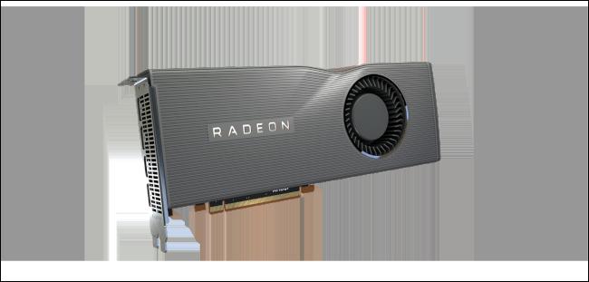 An AMD Radeon RX 5700 XT GPU.