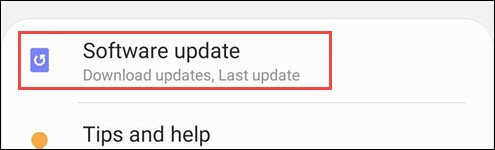 samsung software update settings
