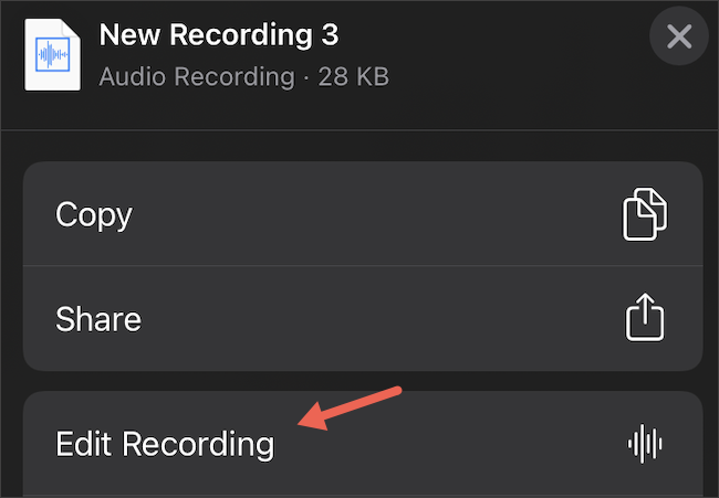 Edit Voice Memos on iPhone