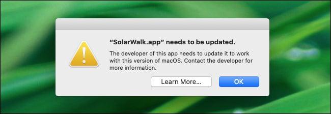 A 32-bit app warning in macOS 10.15 Catalina