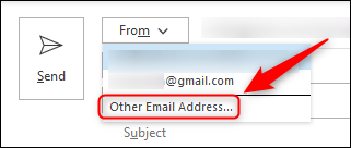 "The ""Other Email Address"" option."