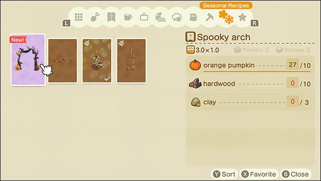 ACNH pumpkin spooky arch5