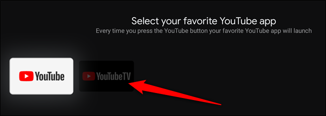 Select the YouTube app you would like to map the button to