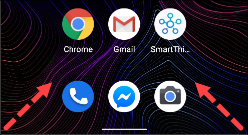 Swipe from the bottom-left or -right of the screen to open Google Assistant on Android.