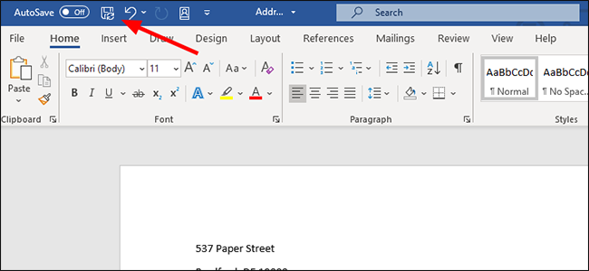 microsoft word text